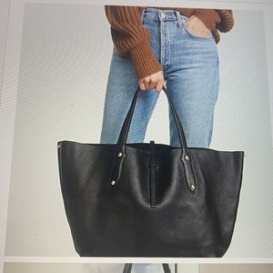 # 929 New leather Annabel Ingall Tote shoulder bag